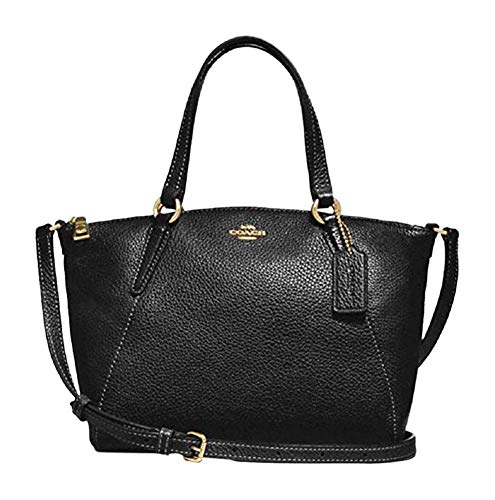 Coach Pebble Leather Mini Kelsey Satchel Crossbody Handbag