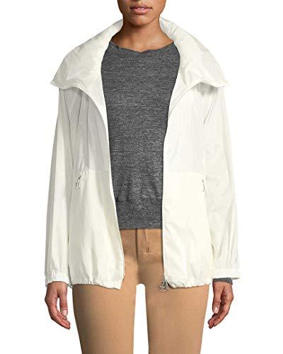 Akris Womens Dearest Silk Coat, 8 White