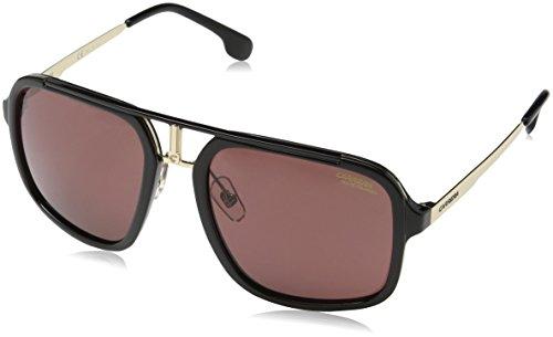 Carrera Men's Polarized Aviator Sunglasses, Black Gold/Burgundy