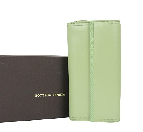 Bottega Veneta Continental Green Leather Clutch Wallet