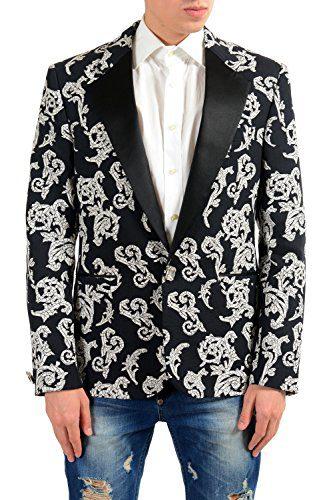 Versace Men's Silk Jacquard Blazer Sport Coat