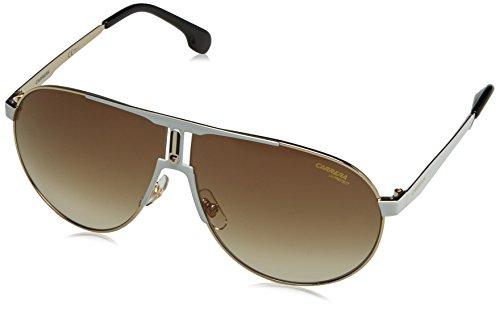Carrera Men's Aviator Sunglasses, White Gold/Brown Gradient, 66 mm
