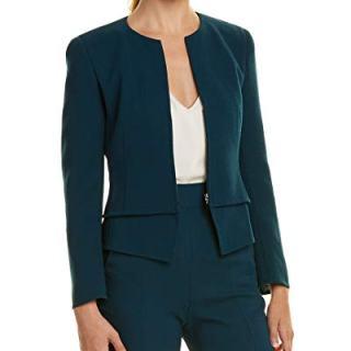 Akris Womens Wool Jacket, 4, Blue