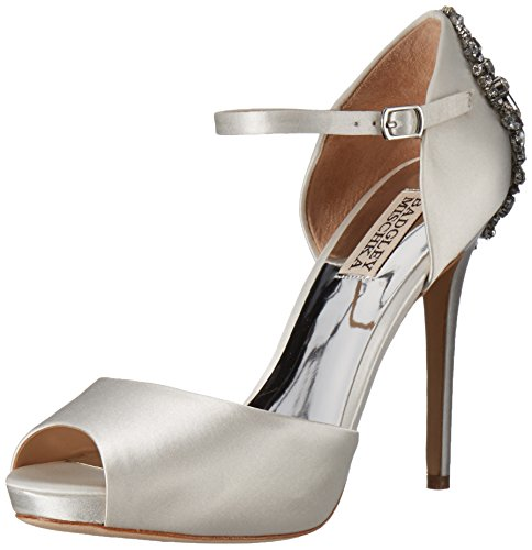 Badgley Mischka Women's Dawn Platform Pump, White, 7 M US