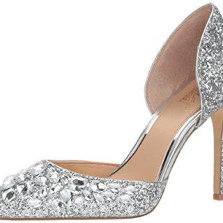 Badgley Mischka Jewel Women's Upton, Silver, 8 Medium US
