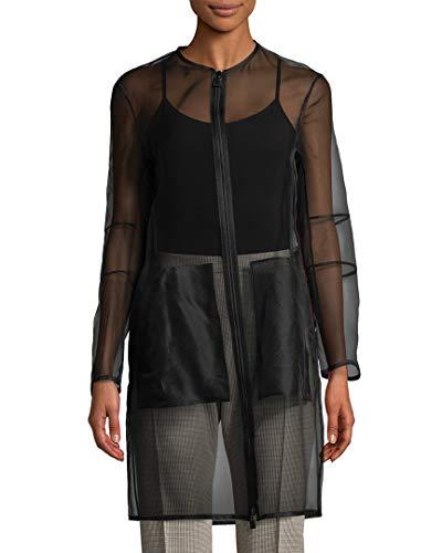 Akris Womens Deidra Sheer Jacket, 10