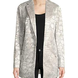 Akris Womens Cherry Metallic Longline Jacket, 8