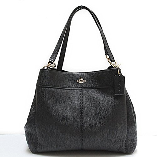 COACH LEXY REFINED NATURAL PEBBLE LEATHER SHOULDER BAG LIGHT