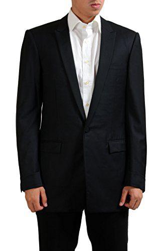 Gianni Versace 100% Wool Black One Button Blazer