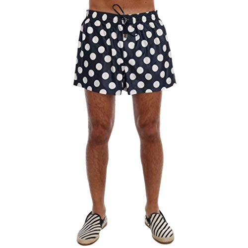 Dolce & Gabbana Blue Polka Dot Beachwear Shorts