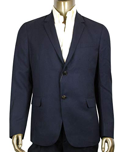 Gucci Men's Panama Blue Wool Gauze Formal 2 Buttons Jacket