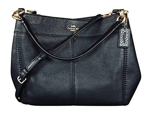 c86d8943fbba Coach Pebbled Leather Small Lexy Shoulder Bag Handbag, Black Clout ...