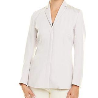 Akris Womens Silk-Blend Jacket, 10, Grey