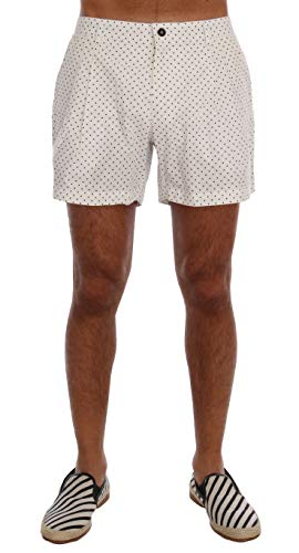 Dolce & Gabbana White Polka Dot Beachwear Shorts