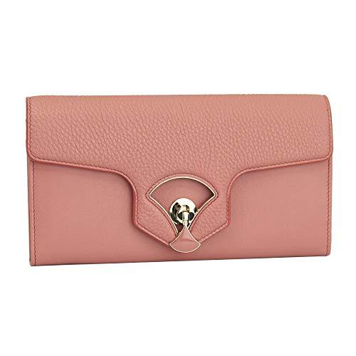 Bvlgari Diva Pink Leather Bi-fold Long Wallet