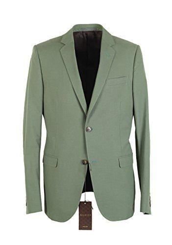 Gucci CL Sport Coat Size 50 / 40R U.S. Cotton Viridian Green