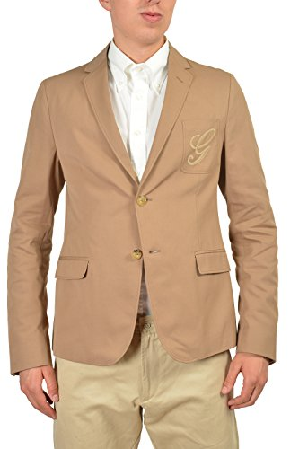 Gucci Men's Light Brown Two Button Blazer Size