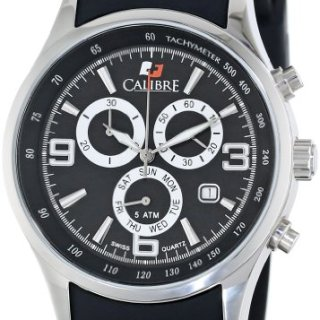 Calibre Men's Mauler Stainless Steel Chronograph Tachymeter Day