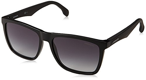 Carrera Men's Rectangular Sunglasses, Black/Dark Gray Gradient, 56 mm