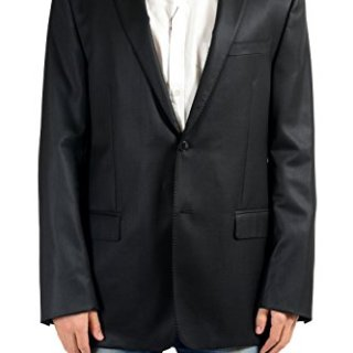 Versace Collection Men's 100% Wool Black Blazer Sport Coat