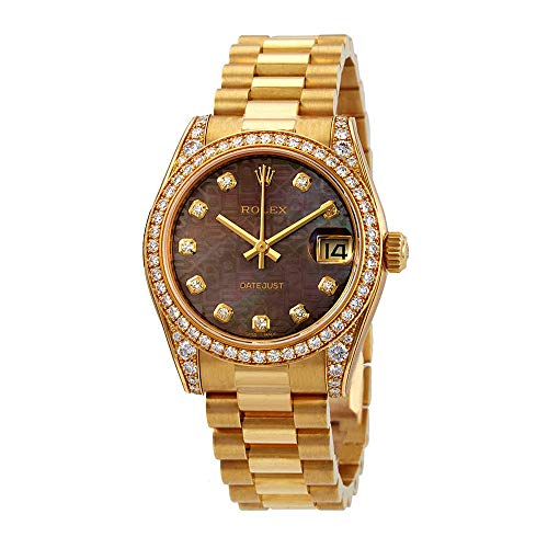 Rolex Datejust 31 Black Mother of Pearl Jubilee Diamond Dial Ladies