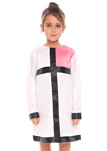 Arshiner Kids Girls Long Sleeve Church Dress