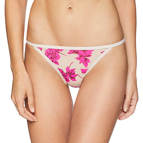 Calvin Klein Women's Id Sheer Marq String Bikini, Darling Roses, Medium