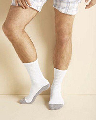 Gildan Mens Platinum Crew Socks -WHITE -OS