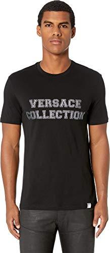 Versace Collection Men's VC Logo T-Shirt Black/Silver XX-Large