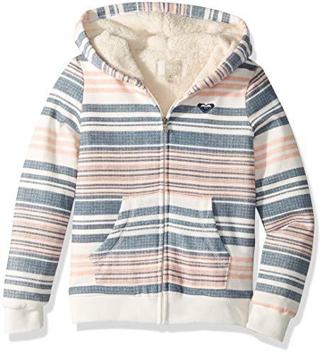 Roxy Girls' Big Sherpa Lined Zip Up Hooded Fleece Top