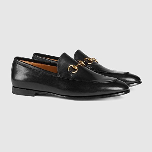 Gucci Men's Jordaan Horsebit Loafer, Black (Nero)