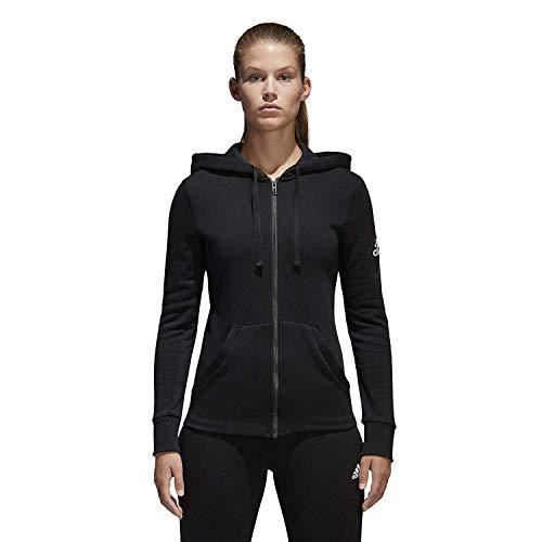 adidas Women Hoodie Running Essentials Linear Full Zip Black
