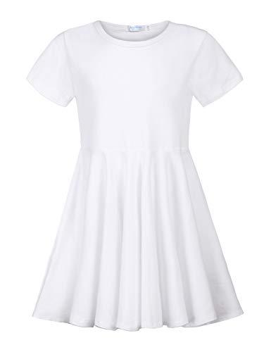 Arshiner Girls Long Sleeve Dress Hi Lo Twirly Skater Party Dress