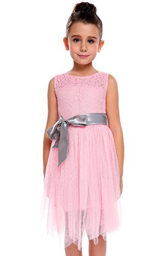 Arshiner Little Girls Lace Dress Wedding Party Floral Dress