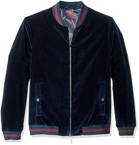 Ted Baker Men's Haydon Modern Slim Fit Velvet Bomber Jacket