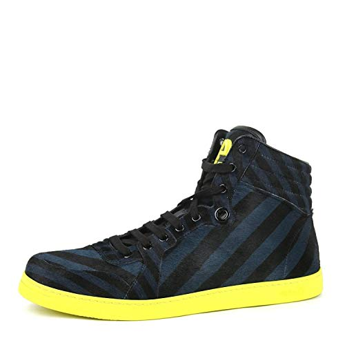 Gucci Men's Multi Color Calf Hair Leather High top