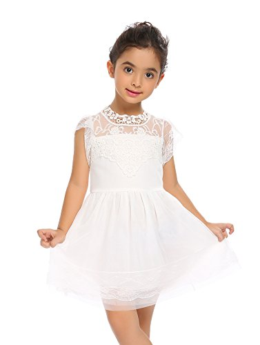 Arshiner Girls Party Dress White