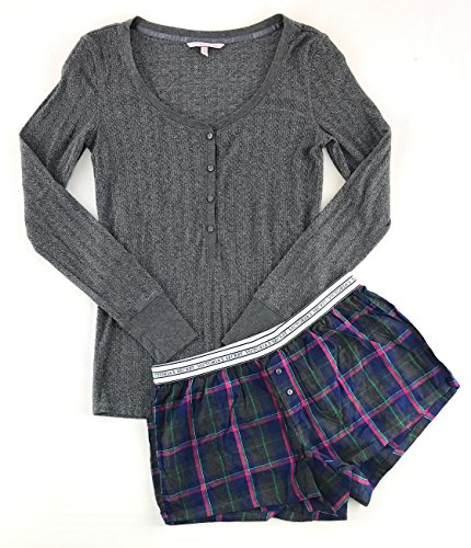 Victoria's Secret Pajama Set Boxer Short and Henley Small