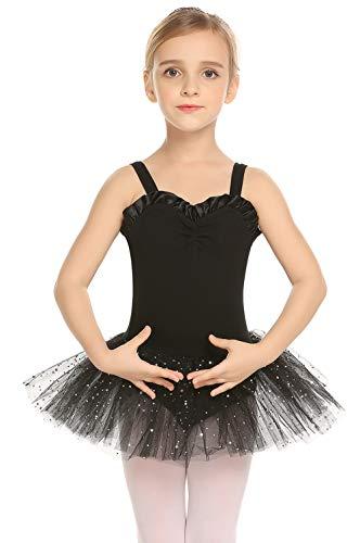 Arshiner Kid Girls Shiny Ballet Tutu Dance Glitter Skirted Leotard