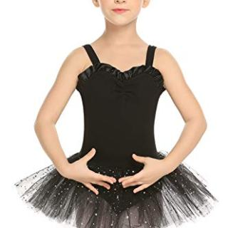 Arshiner Kid Girls Shiny Ballet Tutu Dance Glitter Skirted Leotard