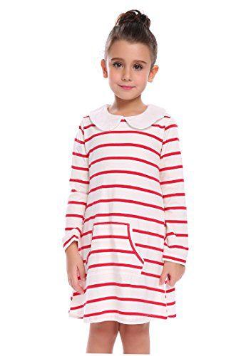 Arshiner Girls Cute Lovely White Red Striped Pocket Doll