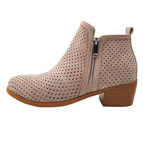 June in love Women's Basel Ankle Bootie Hollow Out Shoes