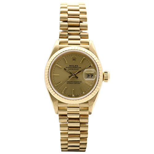 Rolex Oyster Perpetual Ladies Datejust 18K Yellow Gold