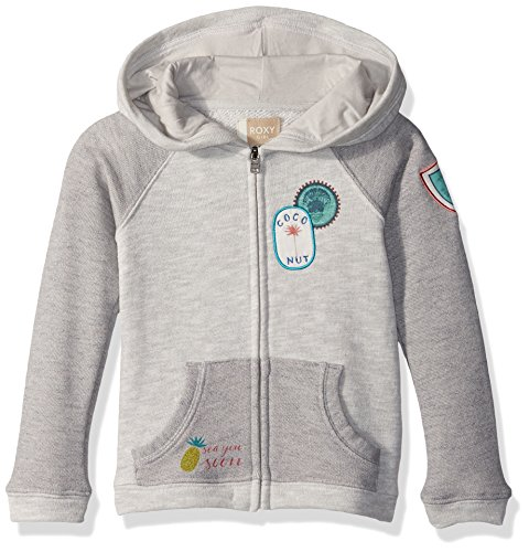 Roxy Girls' Little Hooded Zip Up Fleece Sweatshirt