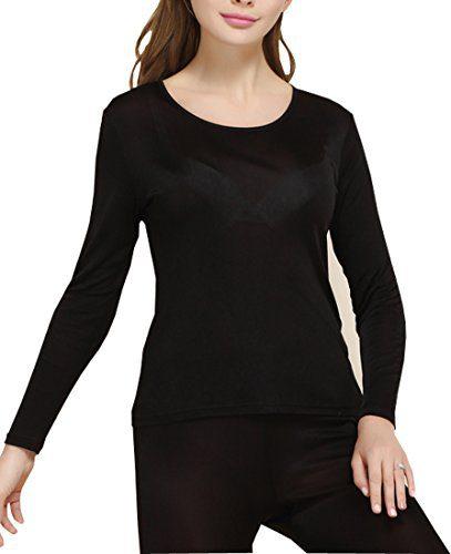 Fashion Silk Women's Thermal Underwear Sets Knit Silk