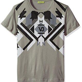 Versace Jeans Men's Optical Graphic Tee, Grey Dove, L