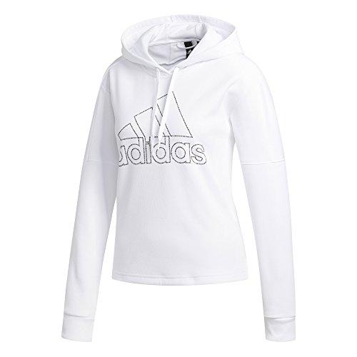 adidas Athletics Team Issue Pullover Hoodie, White, Medium