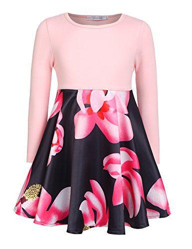 Arshiner Kids Girl O-Neck Long Sleeve Floral