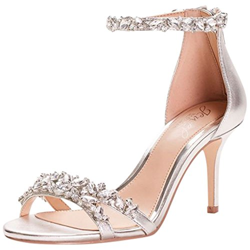 David's Bridal Crystal-Embellished Metallic Ankle Strap
