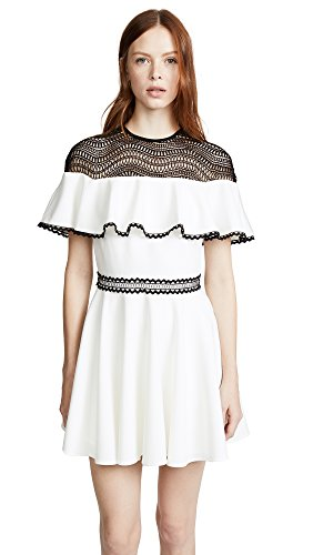 StyleStalker Women's Dahlia Circle Dress, Blanc, Large